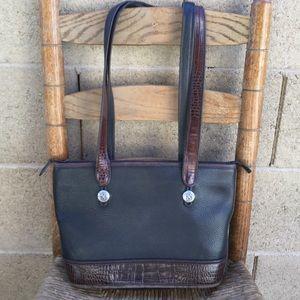 """""""Vintage"""" Leather Brighton Shoulder Bag Purse"""